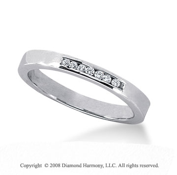 Palladium 7 Stone 1/10 Carat Diamond Anniversary Band