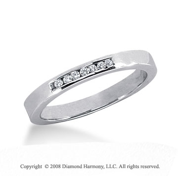 Platinum 7 Stone 1/10 Carat Diamond Anniversary Band