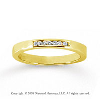 14k Yellow Gold 7 Stone 1/10 Carat Diamond Anniversary Band