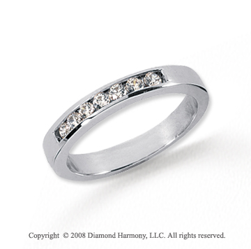 Platinum 7 Stone 1/6 Carat Diamond Anniversary Band