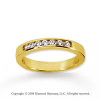 14k Yellow Gold 7 Stone 1/6 Carat Diamond Anniversary Band