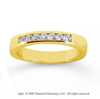 18k Yellow Gold 7 Stone 1/4 Carat Diamond Anniversary Band