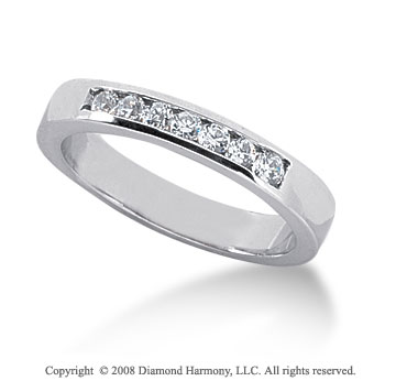 Palladium 7 Stone 1/4 Carat Diamond Anniversary Band
