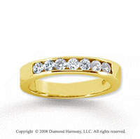 18k Yellow Gold 7 Stone 1/3 Carat Diamond Anniversary Band