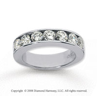 14k White Gold 7 Stone 2 Carat Diamond Anniversary Band
