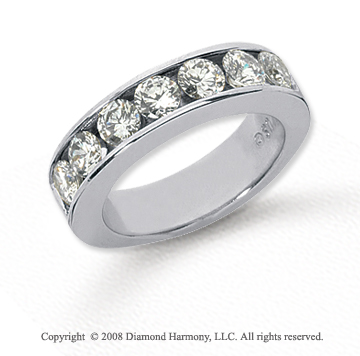 Platinum 7 Stone 2 Carat Diamond Anniversary Band