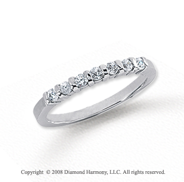 Platinum 7 Stone 1/4 Carat Diamond Anniversary Band