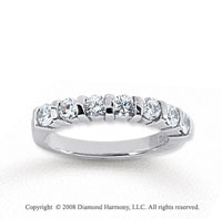 14k White Gold 7 Stone 3/4 Carat Diamond Anniversary Band