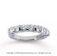 14k White Gold 7 Stone 1 Carat Diamond Anniversary Band