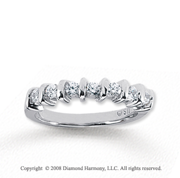 18k White Gold 7 Stone 1/3 Carat Diamond Anniversary Band