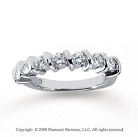 18k White Gold 7 Stone 3/4 Carat Diamond Anniversary Band