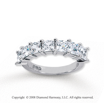 14k White Gold 7 Stone 2 3/4 Carat Diamond Anniversary Band