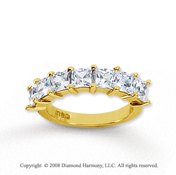 14k Yellow Gold 7 Stone 2 3/4 Carat Diamond Anniversary Band