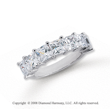 Platinum 7 Stone 3 1/2 Carat Diamond Anniversary Band