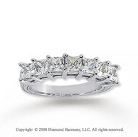 14k White Gold 7 Stone 1 3/4 Carat Diamond Anniversary Band
