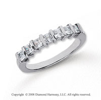 Platinum 7 Stone 3/4 Carat Diamond Anniversary Band