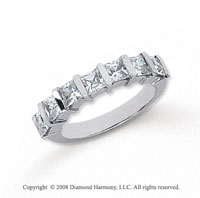 Platinum 7 Stone 1 1/2 Carat Diamond Anniversary Band