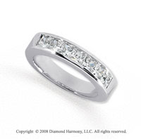 Palladium 7 Stone 1 Carat Diamond Anniversary Band