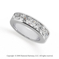 Palladium 7 Stone 2 1/2 Carat Diamond Anniversary Band