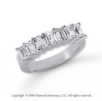 Platinum 7 Stone 1 3/4 Carat Diamond Anniversary Band