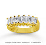 18k Yellow Gold 7 Stone 2 1/2 Carat Diamond Anniversary Band