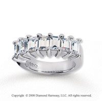 18k White Gold 7 Stone 2 3/4 Carat Diamond Anniversary Band
