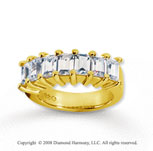 18k Yellow Gold 7 Stone 2 3/4 Carat Diamond Anniversary Band