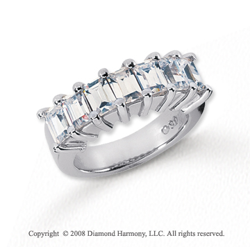 Platinum 7 Stone 2 3/4 Carat Diamond Anniversary Band