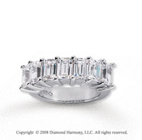 14k White Gold 7 Stone 5 1/4 Carat Diamond Anniversary Band