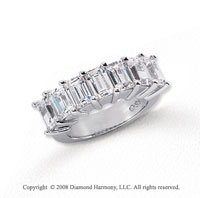 Platinum 7 Stone 5 1/4 Carat Diamond Anniversary Band