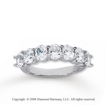 14k White Gold 7 Stone 2 1/2 Carat Diamond Anniversary Band