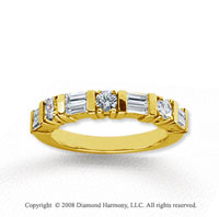 14k Yellow Gold 7 Stone 3/4 Carat Diamond Anniversary Band