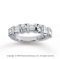 14k White Gold 7 Stone 1 1/4 Carat Diamond Anniversary Band