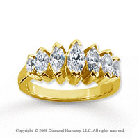 18k Yellow Gold 7 Stone 1 3/4 Carat Diamond Anniversary Band