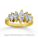 18k Yellow Gold 7 Stone 2 Carat Diamond Anniversary Band