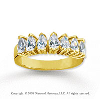 18k Yellow Gold 7 Stone 1 1/2 Carat Diamond Anniversary Band