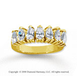 14k Yellow Gold 7 Stone 2 1/2 Carat Diamond Anniversary Band