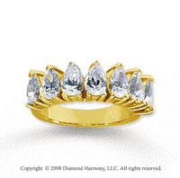 18k Yellow Gold 7 Stone 3 1/2 Carat Diamond Anniversary Band