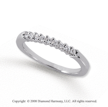 Palladium 9 Stone 1/6 Carat Diamond Anniversary Band