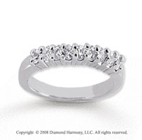 18k White Gold 9 Stone 1/4 Carat Diamond Anniversary Band