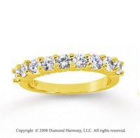 18k Yellow Gold 9 Stone 1 Carat Diamond Anniversary Band