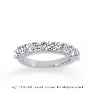 14k White Gold 9 Stone 1 1/2 Carat Diamond Anniversary Band