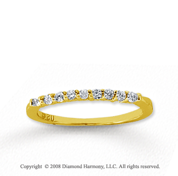 14k Yellow Gold 9 Stone 1/6 Carat Diamond Anniversary Band