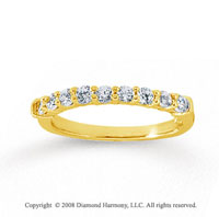 14k Yellow Gold 9 Stone 1/2 Carat Diamond Anniversary Band