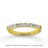 14k Yellow Gold 9 Stone 3/4 Carat Diamond Anniversary Band