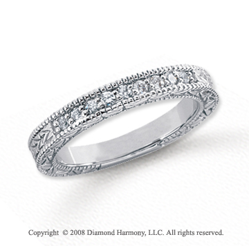 Platinum 9 Stone 1/6 Carat Diamond Anniversary Band
