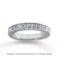 18k White Gold 9 Stone 1/3 Carat Diamond Anniversary Band