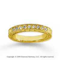 18k Yellow Gold 9 Stone 1/3 Carat Diamond Anniversary Band