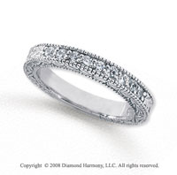 Palladium 9 Stone 1/3 Carat Diamond Anniversary Band