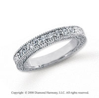 Platinum 9 Stone 1/3 Carat Diamond Anniversary Band